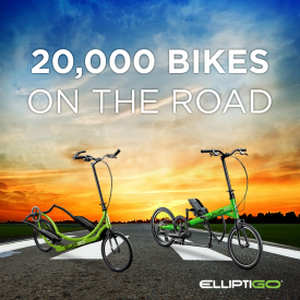 ElliptiGO Sells 20,000th Elliptical Bike; Rolls Out Two New Models to International Markets