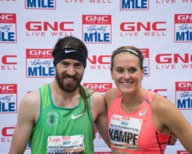 Kampf, Blankenship to Defend GNC Live Well Liberty Mile Titles