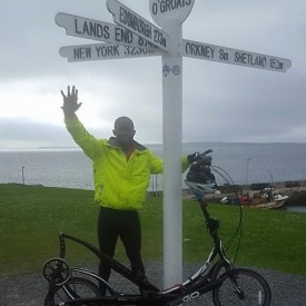 ElliptiGO Rider Sets New Guinness World Record for LEJOG