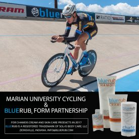 bluerub® Partners with Marian University Cycling Team