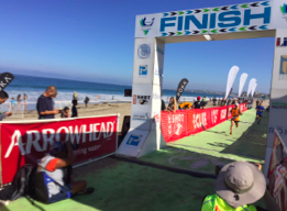 Los Angeles Triathlon at Torrance Beach timed with Lapio, race result and HuTag