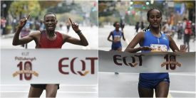 Diriba Defends Title with Three-Peat, Mkungo Comes Up Big in Debut at 2017 EQT Pittsburgh 10 Miler