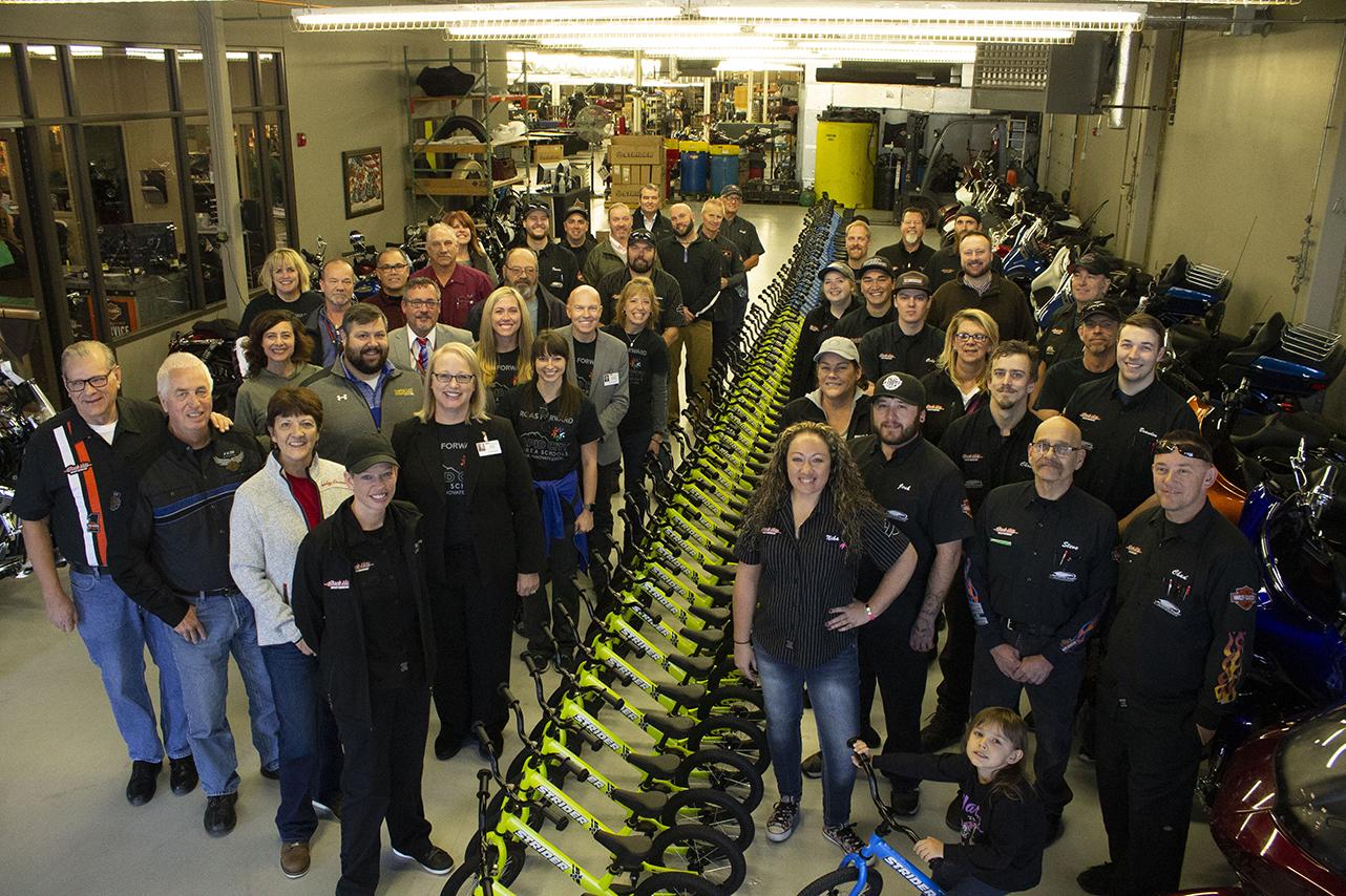 1e9c3bfc19f8a Black Hills Harley-Davidson Donates 375 Strider Bikes to Rapid City Area  Schools