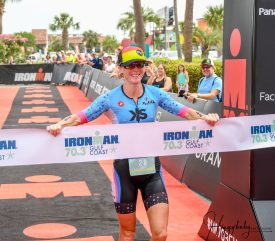 Carrie Lester Wins IronMan Gulf Coast 70.3 to Start Her Season Off Right