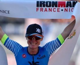 Lester Beats the Heat to Win IronMan France Again!