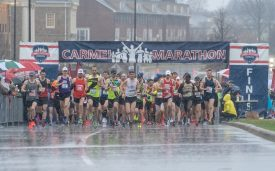 Nearly 4,000 Runners Compete in Carmel Marathon Weekend, Despite Wind, Rain and Cold