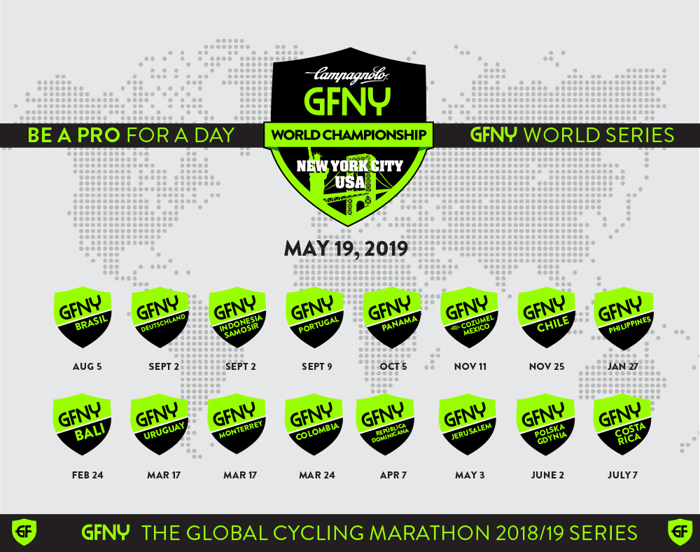 GFNY Global Cycling Marathon Series expands to 17 world