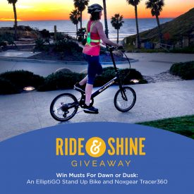 Get Glowing and Enter ElliptiGO and Noxgear's Ride and Shine Giveaway