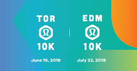 Canada Running Series partners with lululemon for Toronto Waterfront 10K & new Edmonton 10K