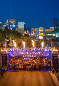 Rock 'n' Roll Las Vegas Marathon Invites Runners to Take Over the Strip at Night