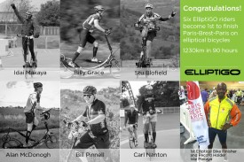Six ElliptiGO Riders Complete Challenging Paris-Brest-Paris Randonneur on Elliptical Bikes; Set Record