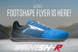 Altra Launches the 3.9-ounce Vanish-R The World's First FootShape™ Zero Drop™ Racing Flat