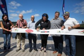 Official inauguration of the Bird Observatory, the new swim exit of Subaru IRONMAN Mont-Tremblant presented by Sportium