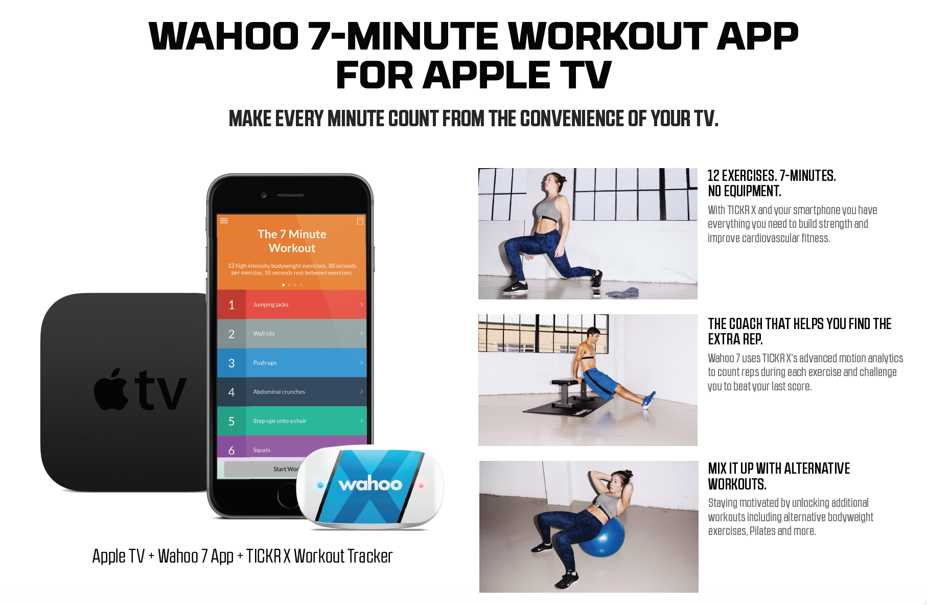 Wahoo Fitness Unveils 7 Minute Workout App For the New Apple