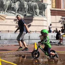 Bike Racing Toddlers Take Over Sundance Square in Fort Worth