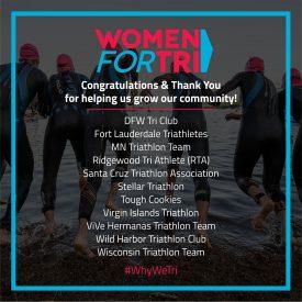 Women For Tri Awards Triathlon Club Grants in U.S. and U.S. Virgin Islands