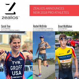 Zealios Announces 2018 New Pro Athlete Line Up – Sarah True, Rachel McBride & Brent McMahon