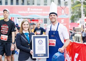 Set a Guinness World Records title at the 2018 Scotiabank Toronto Waterfront Marathon
