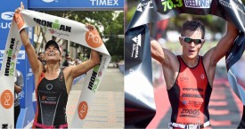 Rocketing to Triathlon's Top Spots, IRONMAN 70.3 Champions Lauren Barnett and Jake Montgomery Join Human Interest Group