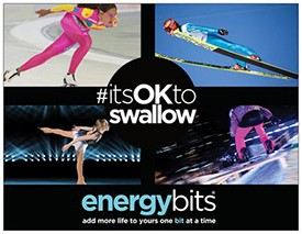 ENERGYbits® Pays Tribute to Athletes Competing at Sochi 2014 Winter Games with #itsOKtoSwallow Campaign and Video Contest