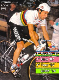 Tour Champion Stephen Roche is Riding Campagnolo Gran Fondo New York on May 18, 2014